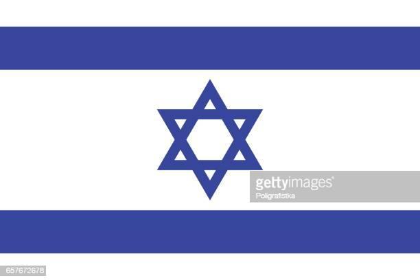 flag of israel - israel stock illustrations