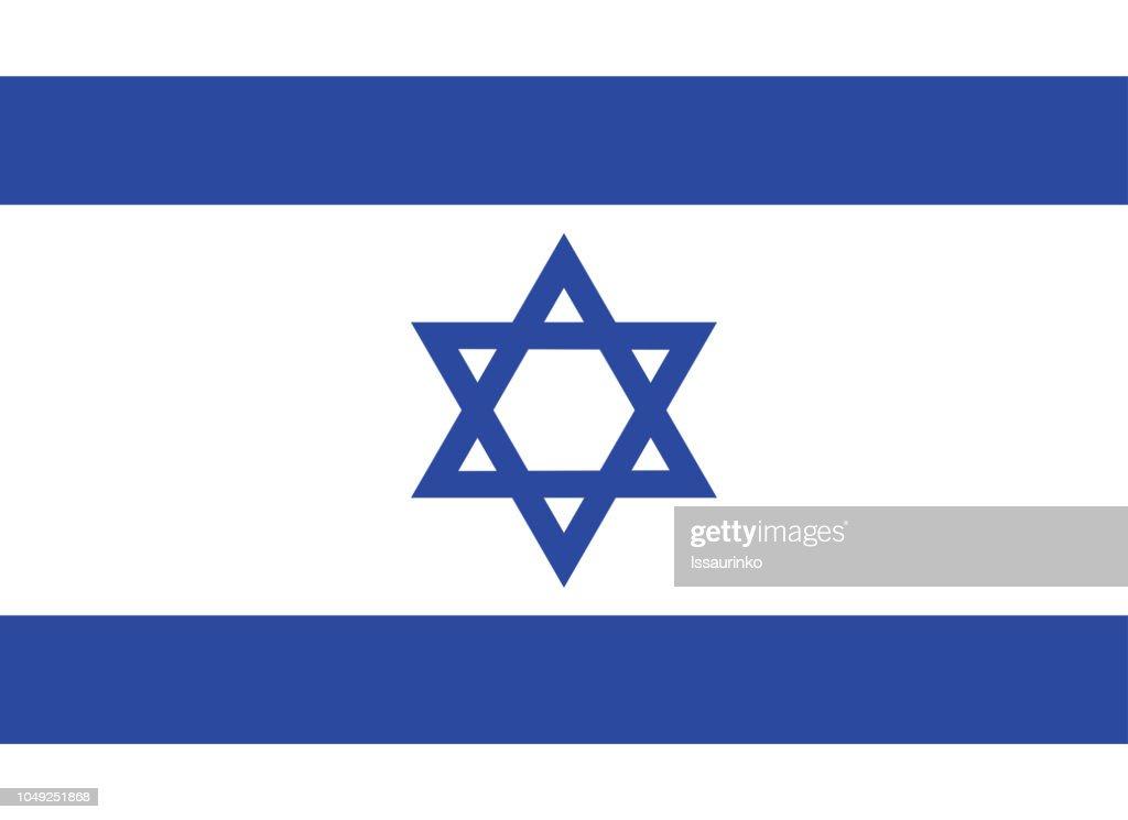 Flag of Israel vector illustration