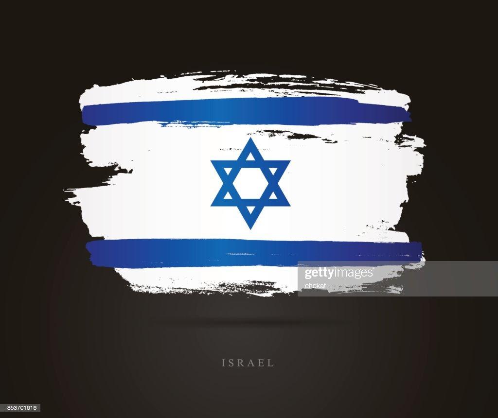 Flag of Israel. Vector illustration