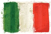 Flag of Italy on Wall