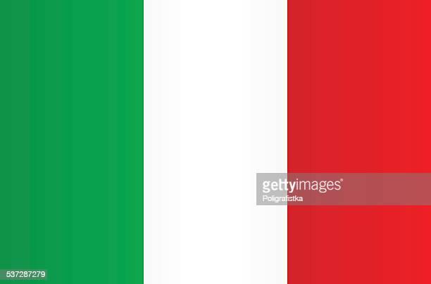 flag of italy - italian flag stock illustrations