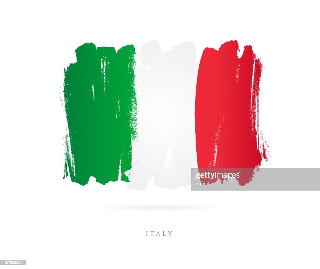 Flag of Italy. Vector illustration