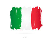 Flag of Italy. Vector illustration