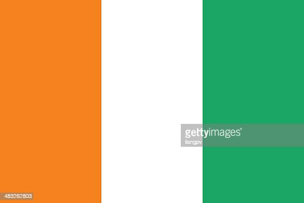 flag of ivory coast - côte d'ivoire stock illustrations