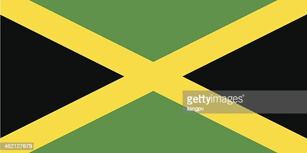 flag of jamaica - jamaican culture stock illustrations, clip art, cartoons, & icons