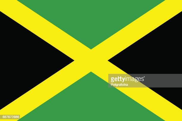 flag of jamaica - jamaica stock illustrations