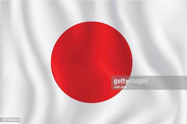 flag of japan - japanese flag stock illustrations, clip art, cartoons, & icons