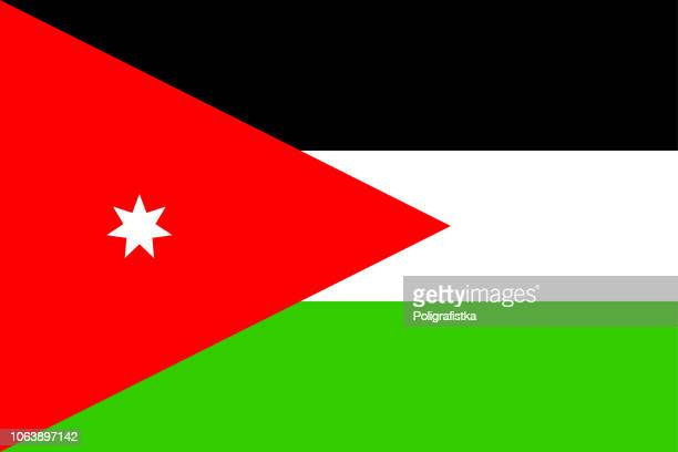 flag of jordan - jordan middle east stock illustrations, clip art, cartoons, & icons