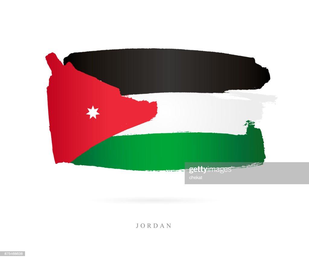 Flag of Jordan. Vector illustration