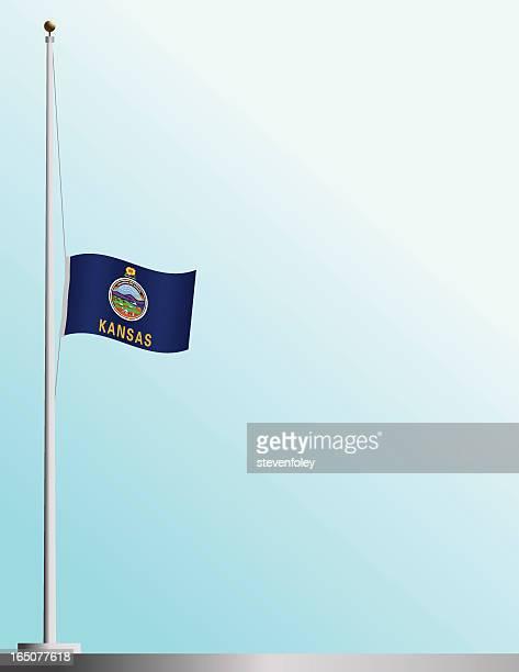 Flag of Kansas at Half-Staff