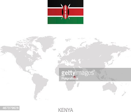 Kenya map with location pins isolated on white background vector art keywords gumiabroncs Image collections