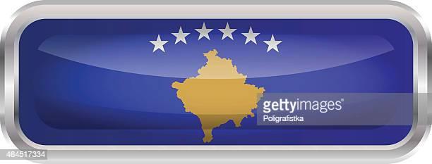 flag of kosovo - balkans stock illustrations, clip art, cartoons, & icons