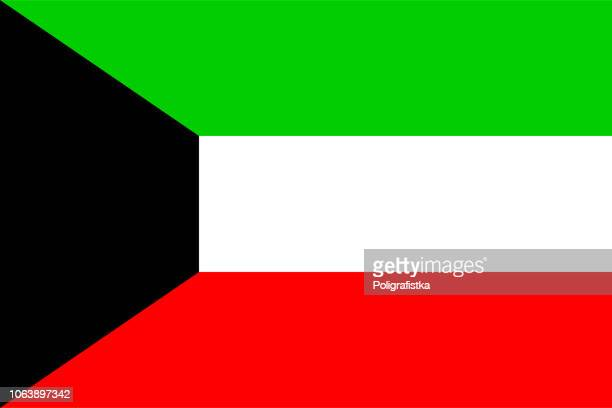 flag of kuwait - kuwait stock illustrations, clip art, cartoons, & icons