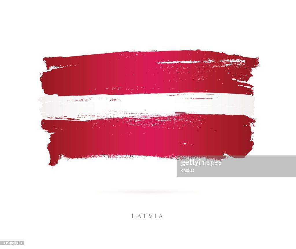 Flag of Latvia. Vector illustration