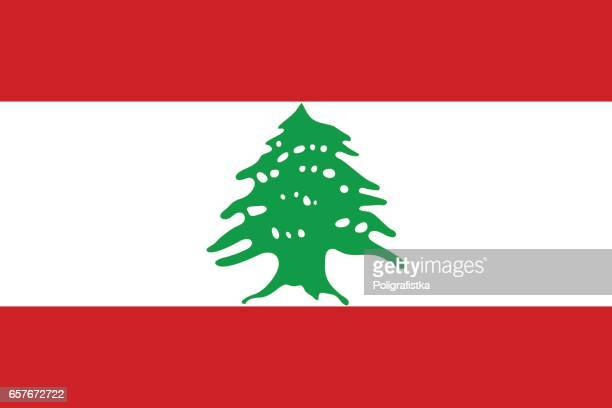flag of lebanon - lebanon country stock illustrations, clip art, cartoons, & icons