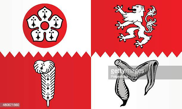 flag of leicestershire - leicestershire stock illustrations