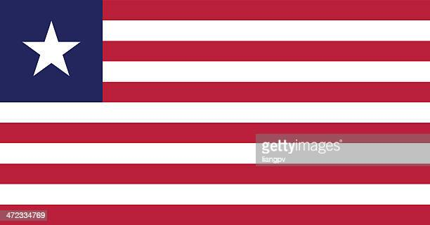 flag of liberia - liberia stock illustrations, clip art, cartoons, & icons