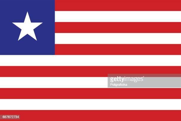 ilustrações, clipart, desenhos animados e ícones de bandeira da libéria - libéria