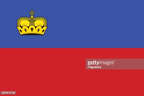 flag of liechtenstein - principality of liechtenstein stock illustrations