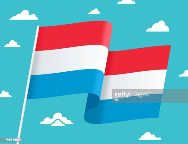 flag of luxembourg - luxembourg benelux stock illustrations