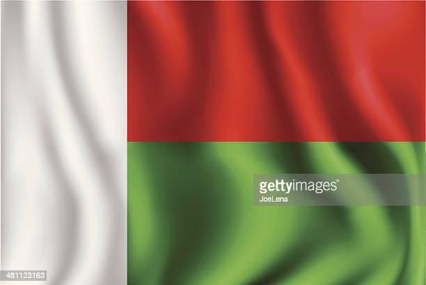 flag of madagascar - madagascar stock illustrations, clip art, cartoons, & icons