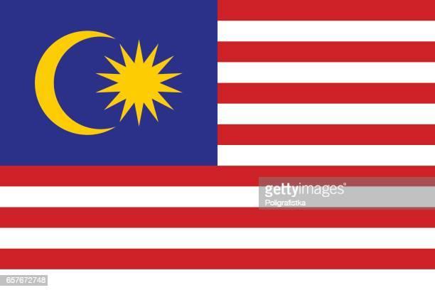 flag of malaysia - malaysia stock illustrations