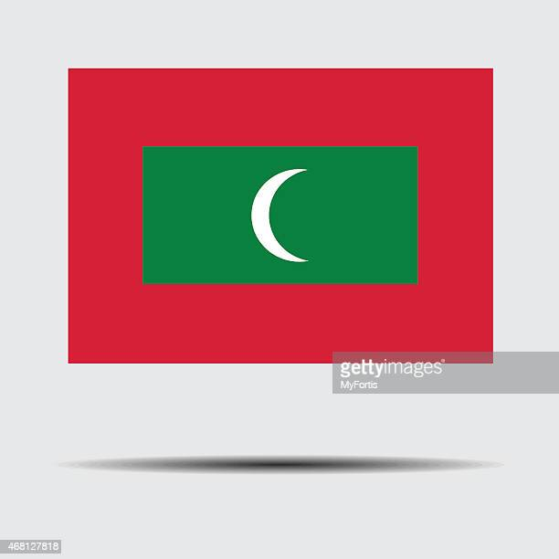 flag of maldives - country geographic area stock illustrations, clip art, cartoons, & icons