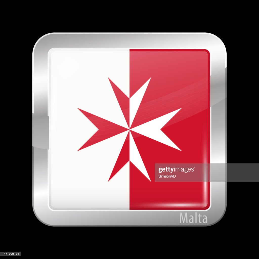 Flag of Malta. Metal Icons