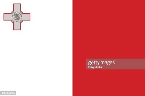 flag of malta - malta stock illustrations