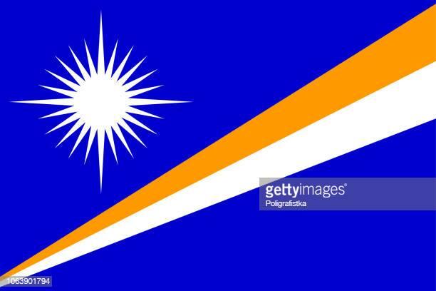 flag of marshall islands - marshall islands stock illustrations, clip art, cartoons, & icons