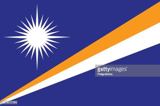 flag of marshall islands - marshall islands stock illustrations, clip art, cartoons, & icons