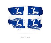 Flag of Martinique. Vector illustration