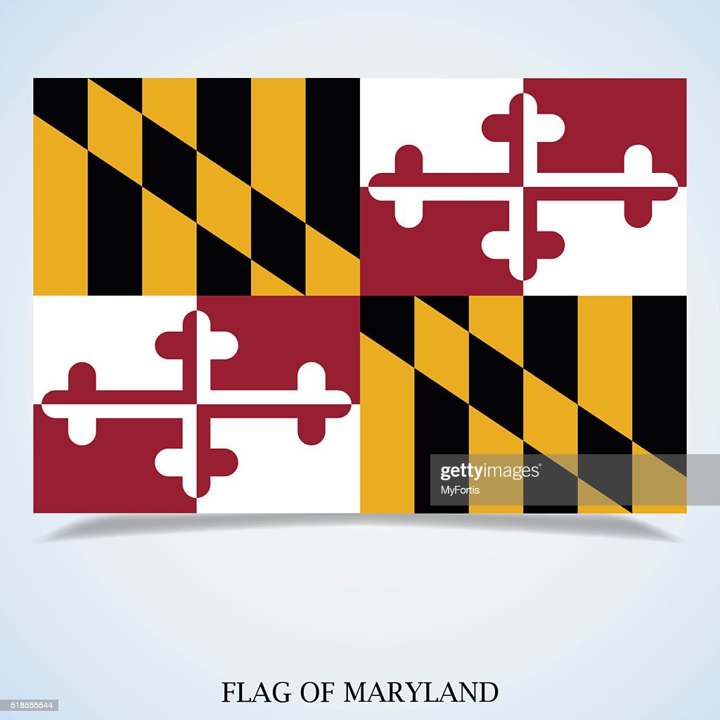 Flag of Maryland : stock illustration
