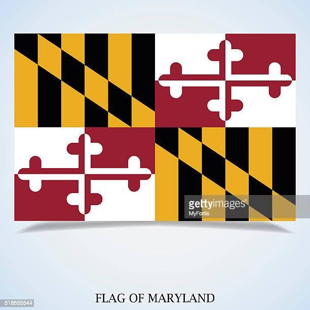 ilustraciones, imágenes clip art, dibujos animados e iconos de stock de bandera de maryland - maryland us state