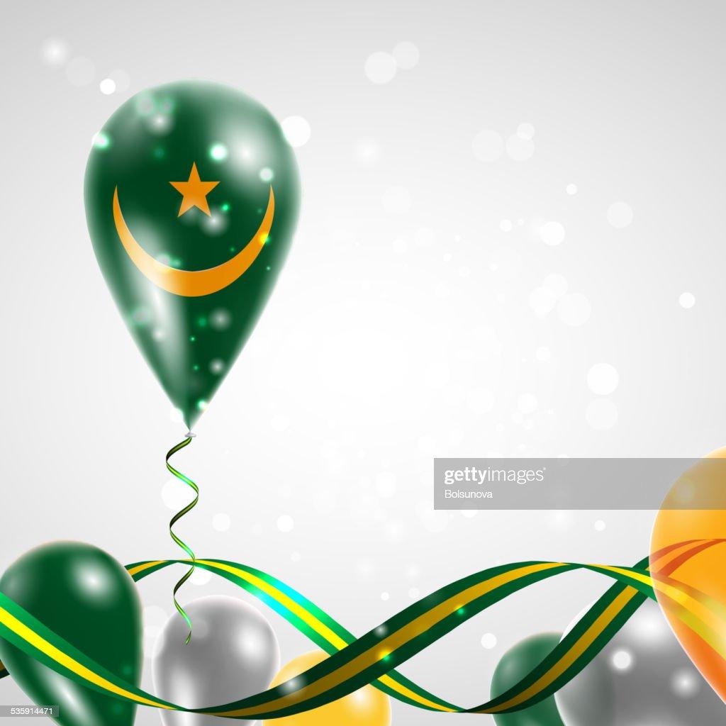 Bandera de Mauritania en globo aerostático : Arte vectorial