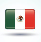 Flag of Mexico, vector illustration