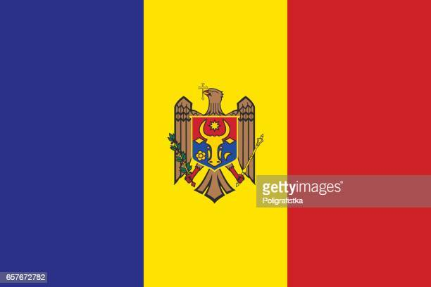 flag of moldova - moldova stock illustrations
