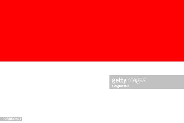 flag of monaco - monaco stock illustrations