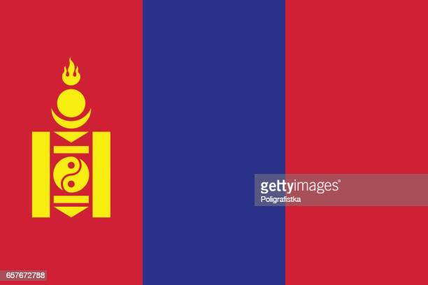 flag of mongolia - independent mongolia stock illustrations