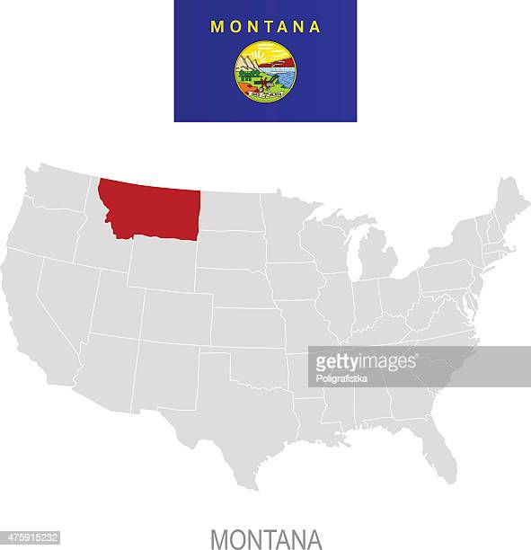 Montana Stock Illustrations And Cartoons Getty Images - Montana in us map