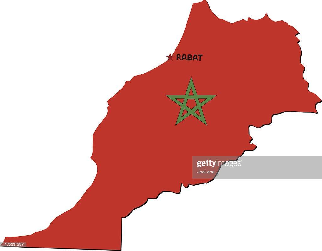 Flag Of Morocco : stock illustration
