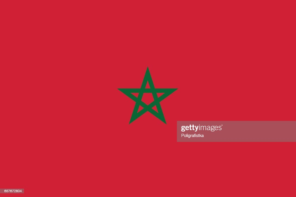 Flag of Morocco : stock illustration