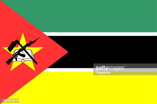 flag of mozambique - mozambique stock illustrations, clip art, cartoons, & icons