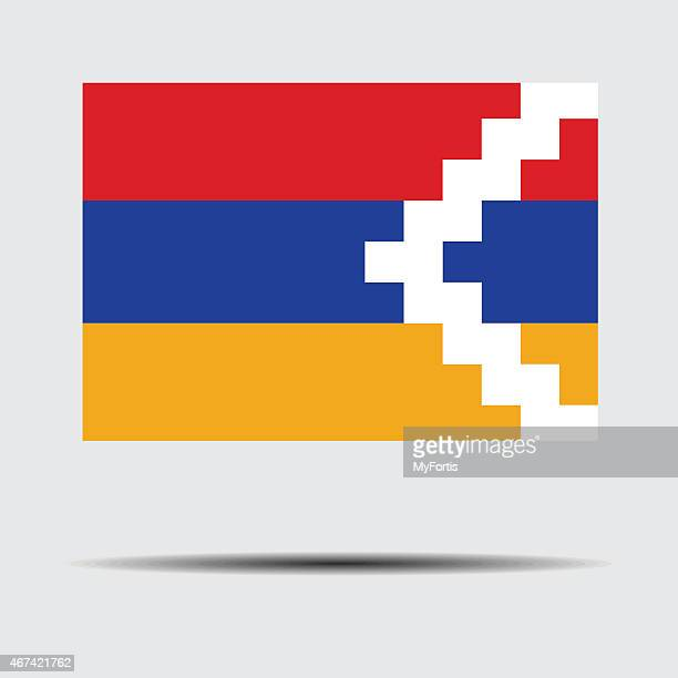 flag of nagorno-karabakh - country geographic area stock illustrations, clip art, cartoons, & icons
