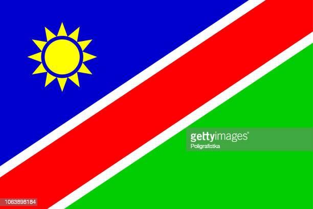 flag of namibia - namibia stock illustrations, clip art, cartoons, & icons