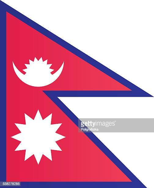 flagge von nepal - nepal stock-grafiken, -clipart, -cartoons und -symbole