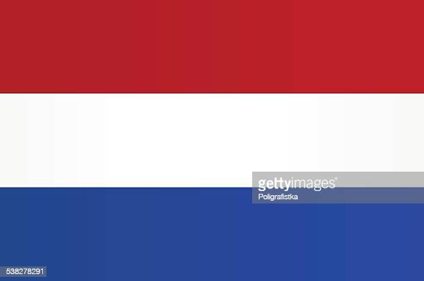 flag of netherlands - all european flags stock illustrations