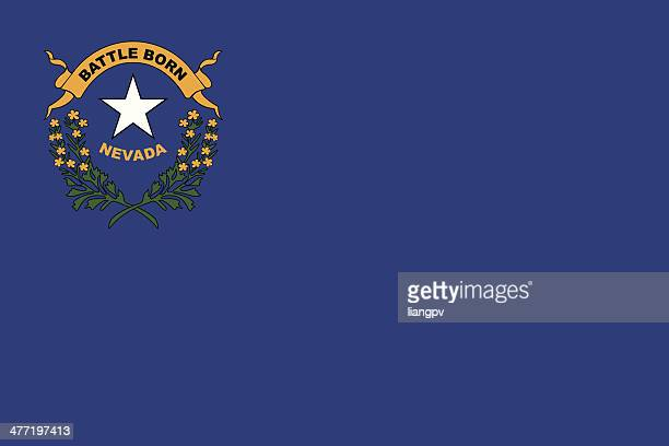 flag of nevada - nevada stock illustrations