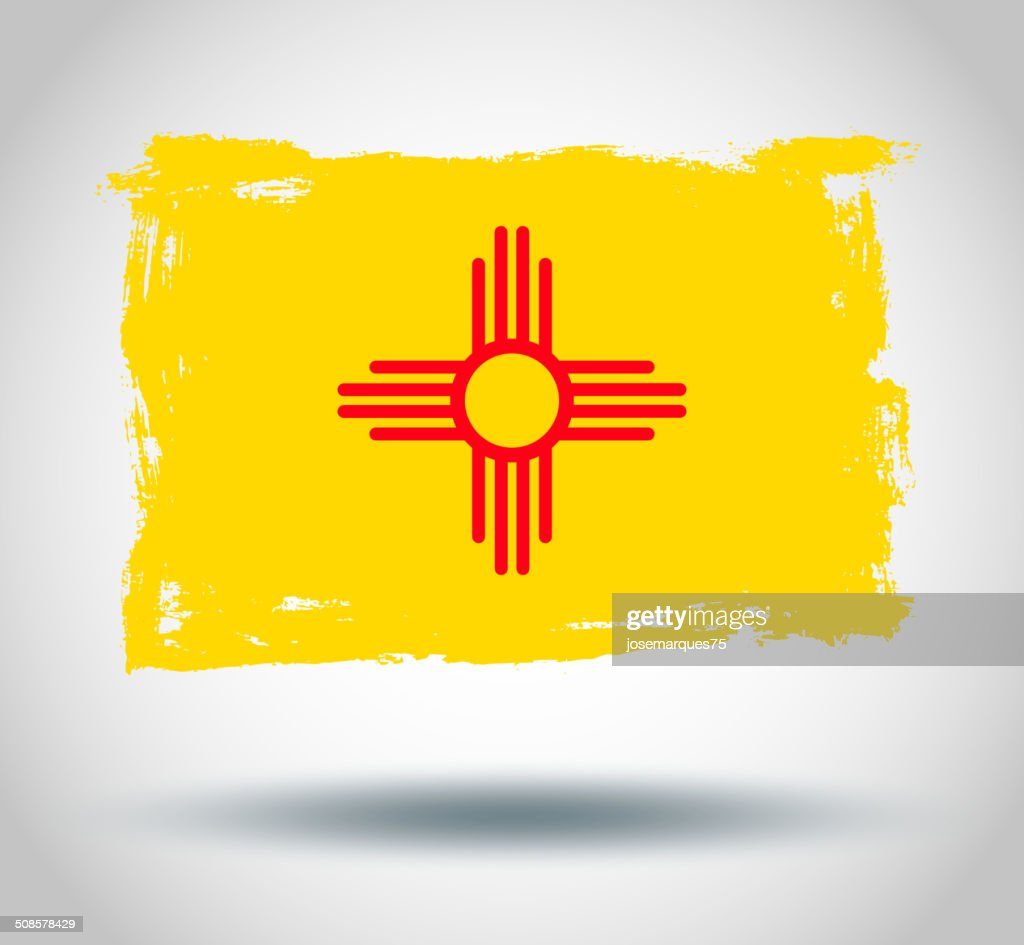 Flag of new mexico state : Vector Art