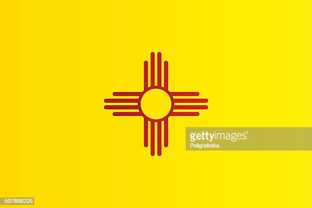 flag of new mexico - new mexico stock illustrations